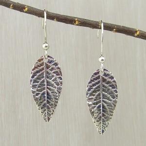 Butterfly Bush Leaf Earrings Medium