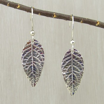 Butterfly Bush Leaf Earrings Medium