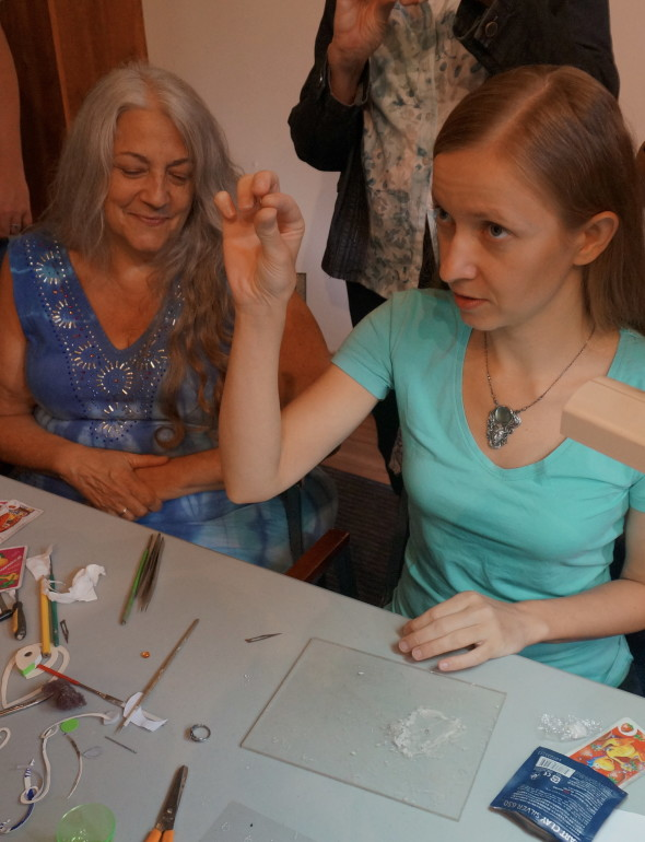 """""""It starts with a tiny ball"""", says Anna. Every minuscule embellishment starts with a teensy, tiny ball of clay."""